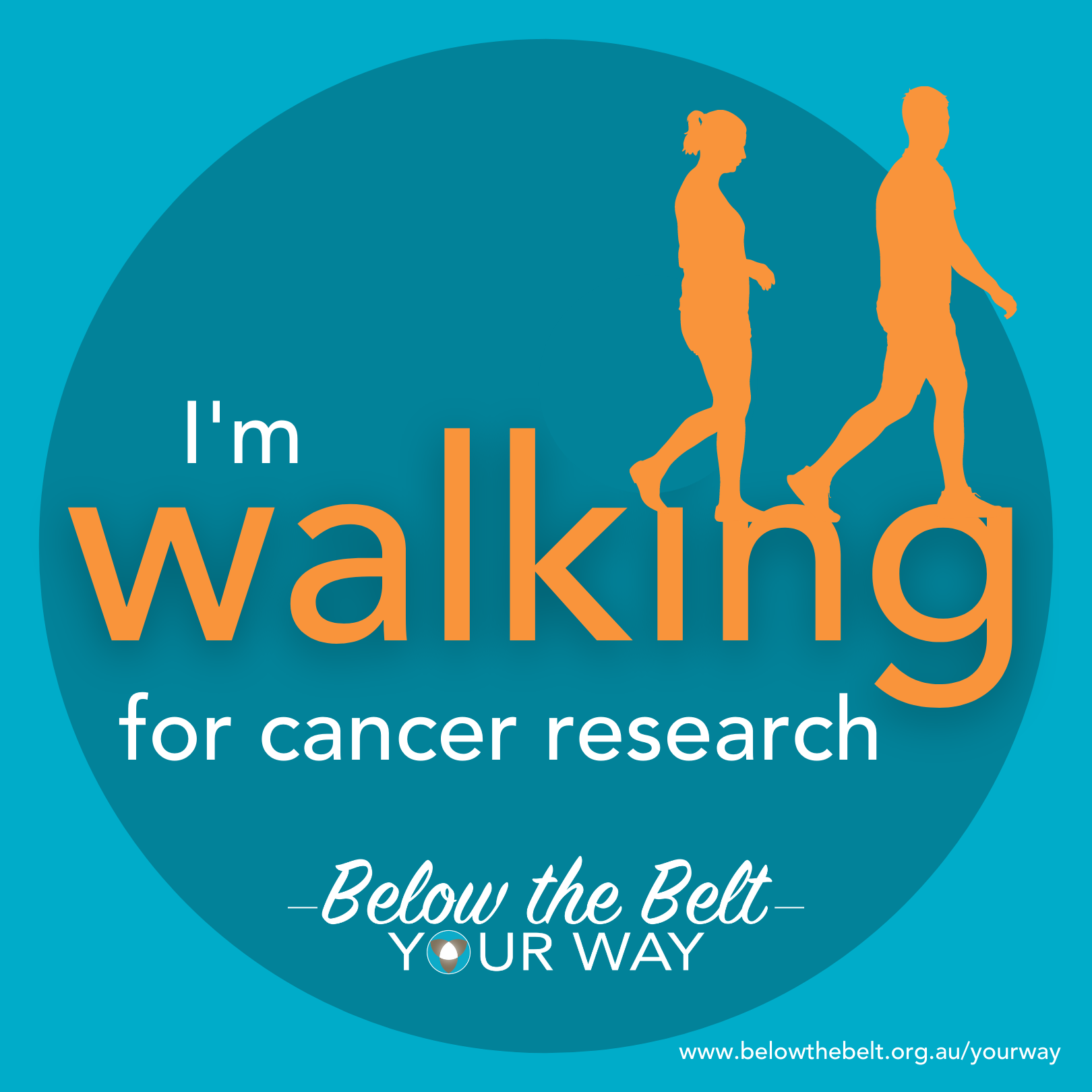 I'm walking for research